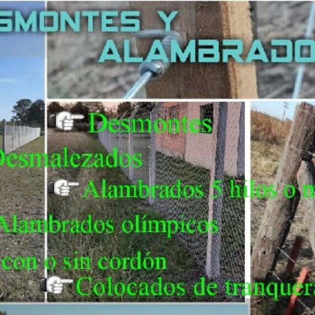 Desmontes y alambrados en Merlo San Luis